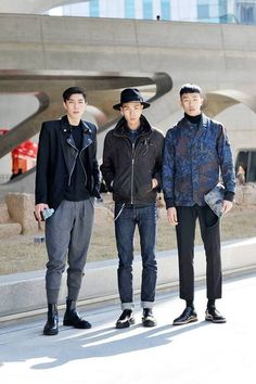 Streetstyle: Kim Moo Young, Kim Do Jin and Min Joonki at Seoul Fashion Week F/W 2014 shot by Choi Seung Jum