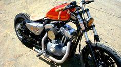 #harley #davidson #bobber #motorcycle #sportster | caferacerpasion.com