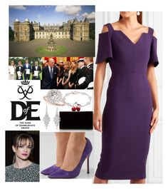 One Wild Ride- Handing out Gold Awards at  Holyroodhouse as patron of The Duke of Edinburgh Awards by harryandthecambridges on Polyvore featuring polyvore fashion style Roland Mouret Vetements Edie Parker Allurez Plevé clothing