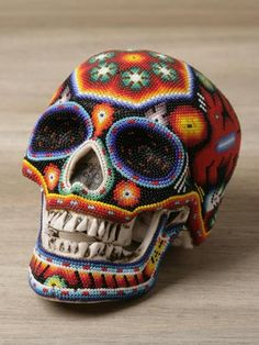 Mexican beaded skull by Our Exquisite Corpse