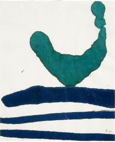 "Robert Motherwell, ink on paper, 1965 From the ""Lyric Suite"" Dedalus Foundation / Paul Kasmin Gallery"