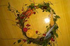 Podzimní věnec na dveře