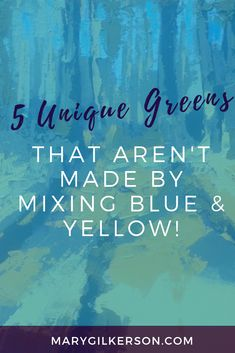 Painters, what if I told you that some of the best greens on your color palette can be mixed without the typical blue and yellows? Save this pin and click through to discover your new favorite mixing guide! Acrylic Painting Lessons, Acrylic Painting Techniques, Watercolor Techniques, Art Techniques, Watercolour Painting, Watercolors, Watercolor Art Lessons, Pour Painting, Watercolour Tutorials