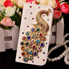 >> Click to Buy << Diamond peacock Flip Leather Coque capa fundas cover Case For iPhone 7 plus 6 6s plus 7 5 5s se 5c 4 4s case for iphone7 carcasa #Affiliate