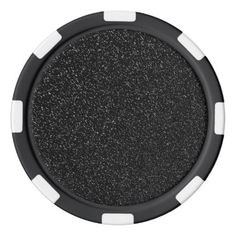 Modern Black Stone style -Space- Poker Chip Set - black and white gifts unique special b&w style