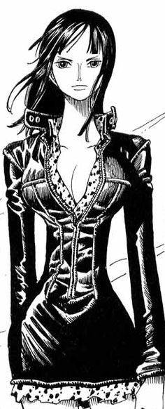 Nico Robin (Manga Pre Timeskip) Why = No matter how hard her life has been she kept going and uses here intelligence to get through her challenges.  She shows that intelligence and heart are as powerful and good as any martial arts skills.