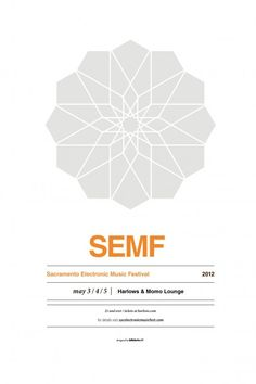 SEMF - Sacramento Electronic Music Festival poster