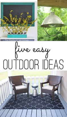 Five easy outdoor DIY ideashttp://www.theshabbycreekcottage.com/2014/03/five-easy-outdoor-diy-ideas.html