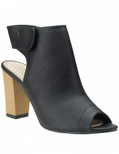 Stiefeletten mit Blockabsatz, schwarz Heeled Mules, Peeps, Peep Toe, Shoes, Fashion, Block Heel Shoes, Black, Moda, Zapatos