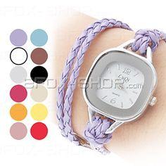 Damen Quarz Armbanduhr - Seil-Lederband
