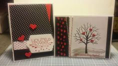 Stampin' Up Valentine's Day Cards us the Stacks of Love paper - by Roberta!  wwww.lovinglifeslifeslittleblessings.com