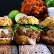 Chipotle Chicken & Andouille Sausage Sliders