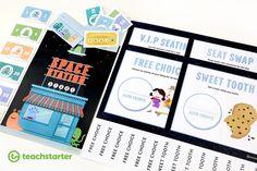 Space Alien Themed Printable Classroom Reward System Idea