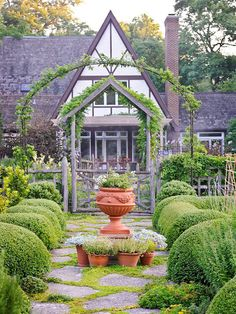 Cottage Gardens Love this cottage and its garden! It looks like something out of a fairy tale. - An overgrown Tudor home and garden is magnificently restored