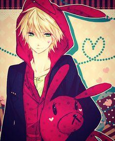 Demande d'images~ : Un gars blond aux yeux vert.