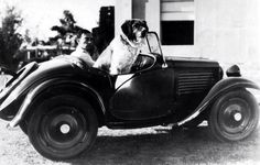 Buster and his dog,Elmer 1930s