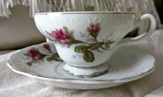 Vtg JAPAN Moss ROSE china Cup Saucer Marked NICE #MadeinJapan  8.99                I have four almost identical............Marilyn