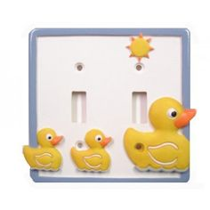 Borders Unlimited Just Ducky Double Light Switch Plate - Yellow Rubber Duck Bathroom Decor ** Check out this great product. (This is an affiliate link) Rubber Ducky Bathroom, Duck Bathroom, Bathroom Kids, Kids Bath, Switch Plate Covers, Light Switch Plates, At Home Store, Kids House, Tapas