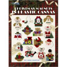 Leisure Arts - Christmas Magnets in Plastic Canvas, $3.00 (http://www.leisurearts.com/products/christmas-magnets-in-plastic-canvas.html)