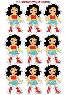 Wonder Woman Birthday, Wonder Woman Party, Wonder Woman Pictures, Daisy Party, Girl Superhero Party, Superhero Coloring, Wander Woman, Comic Tutorial, 4th Birthday Parties