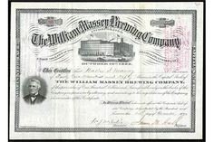 William Massey Brewing Company (Pennsylvania) 1891. Philadelphia. 4.550 shares. No.30. Large brew