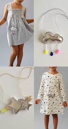 the   happy cloud   necklace & the   twinkle star   necklace