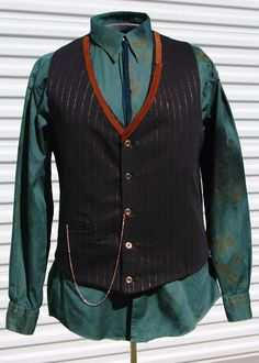 Alchemist Steampunk Mens Vest Copper Leather Size 42