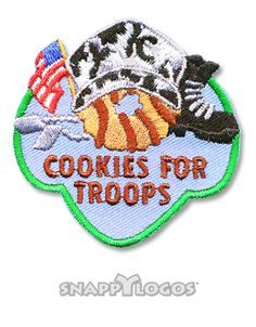 Cookies for Troops Girl Scout Fun Patches, Cool Patches, Girl Scouts, Troops, Cookies, Crack Crackers, Girl Guides, Biscuits, Cookie Recipes