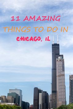 11 Amazing Things to do in Chicago, IL - If you are looking to go for a long week or even for a short weekend trip to Chicago, here are the top 11 things to do in Chicago! Contains the best eats, where to see the skyline, and which neighborhoods to visit! Romantic Things To Do, Cheap Things To Do, Stuff To Do, Visit Chicago, Chicago Travel, Chicago Trip, Solo Travel, Travel Usa, 2nd City