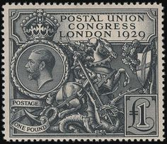 This mighty stamp embodies the power of the British Empire. It's large ...