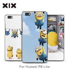 For P8 lite case cute Minions hard PC back cover for fundas Huawei P8 lite case 2016 new arrivals coque for Huawei P8 lite #clothing,#shoes,#jewelry,#women,#men,#hats,#watches,#belts,#fashion,#style