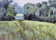 Field at Fair Oaks  9x12 inches  acrylic on panel  400.00  www.lindablondheim.com
