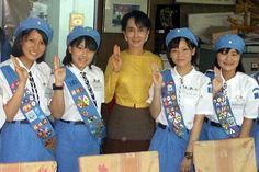 Ranger Scouts of Japan meet Aung San Suu Kyi #Thinking Day