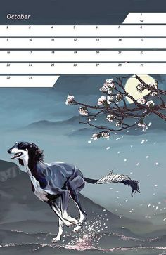 Saluki Calendar 2011 - October