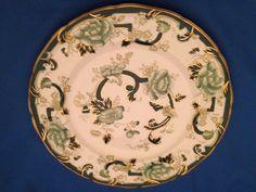 Vintage Mason's Chartreuse Dinner Plate-Ironstone China-England-Green Patterns #Masons