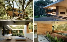 Sagan Piechota Architecture have designed this contemporary home with lots of outdoor living spaces, that's nestled between the trees of Carmel Valley in California.