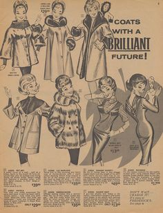 Coats With a Brilliant Future    Page 05 of the Fall 1964 Frederick's of Hollywood catalog.