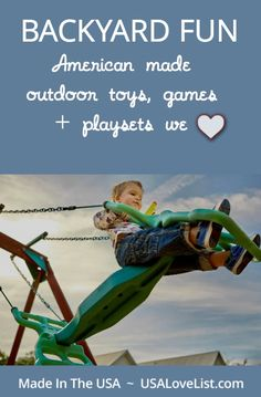 Made in USA outdoor toys, outdoor games, outdoor playsets
