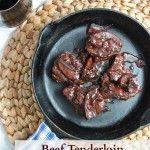 Beef Tenderloin with Red Wine Mushroom Sauce