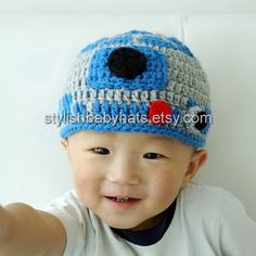 R2D2 hat Star Wars hat Crochet R2-D2 Hat by stylishbabyhats
