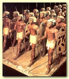 Egyptian soldiers from the 11th Dynasty (about 2000 BC)