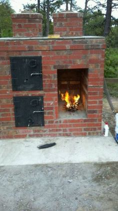 Brick smoker...cooks better than anything you have ever cooked on...In my front yard