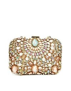ALDO Bighorse Embellished Clutch Bag