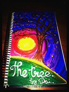 El árbol. Cositas en papel que hago para relajarme. Trabajo final 12/05/2012.