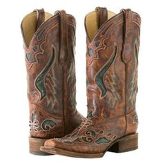Corral - Womens Cognac Inlay Cowgirl Boot
