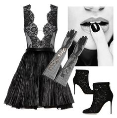 black luck by nansylovesfashion on Polyvore featuring polyvore fashion style Yves Saint Laurent Agent Provocateur Dolce&Gabbana clothing
