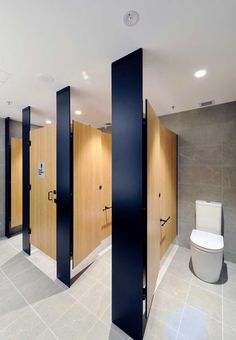 Cubicle – Floor Mounted Ceiling Fixed (FC) – Toilet Partitions Industries – Wet area partitions – Cubicles, Showers & Urinals Bathroom Stall, Office Bathroom, Bathroom Toilets, Bathroom Interior, Modern Bathroom, Small Bathroom, Relaxing Bathroom, Handicap Bathroom, Bathroom Doors