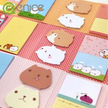 6 Folding Color Cute Animal Korean Adhesive Index Notepad Memo Pads Stickers Paper Notebook for Office Stationery Free Shipping(China (Mainland))