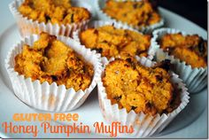 Gluten Free, Dairy Free, Paleo-Friendly Honey Pumpkin Muffins! (let the fall recipes begin!)