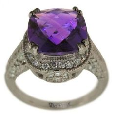 Antique Amethyst and Diamond Ring by Gmomma